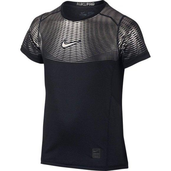 Nike Pro Hypercool Max Fitted Black/Metallic Top